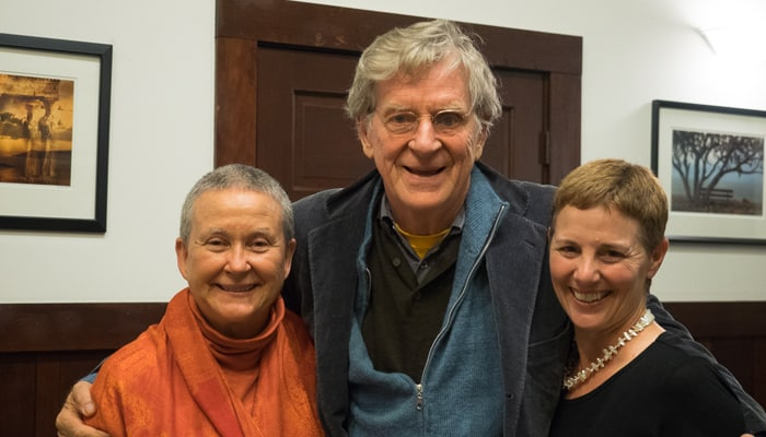 Isa and Laura with Robert Thurman